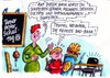 Cartoon: Bad Bank (small) by RABE tagged schule,erziehung,bad,bank,lehrer,euro