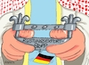Cartoon: Exportstopp (small) by RABE tagged saudi,arabien,scheichs,wüste,wirtschaftstreffen,absage,investoren,rabe,ralf,böhme,cartoon,karikatur,pressezeichnung,farbcartoon,tagescartoon,saudies,siemens,kaeser,khashoggi,mord,rüstungsgüter,rüstungsexporte,deutschland,exportstopp,rüstungsexportstopp,scheich,außenminister,maaß,ausweisung,diplomaten,botschaft