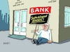 Cartoon: Zinspolitik (small) by RABE tagged bank,bad,db,deutsche,türme,frankfurt,main,banker,börse,rabe,ralf,böhme,cartoon,karikatur,pressezeichnung,farbcartoon,tagescartoon,streichung,streichkonzert,zinsen,zinspolitik,leitzins,sparer,böres,sparkasse,zentralbank,kredite,finanzminister,bankenrettung,euro,sparkonten,festgelder