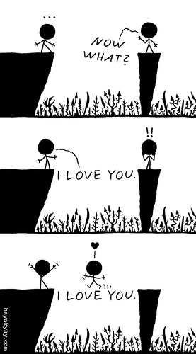 Cartoon: I love you (medium) by heyokyay tagged love,inlove,iloveyou,comic,sweet,cute,heyokyay