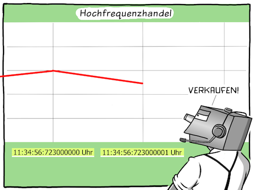 Cartoon: Hochfrequenzhandel (medium) by CloudScience tagged hochfrequenzhandel,digitalisierung,finanzen,börse,handel,geld,money,banker,broker,aktien,aktienkurs,anlage,geldanlage,vermoegen,investieren,verkaufen,kaufen,roboter,computer,algorithmen,daten,informationen,nanosekunden,manipulation,wirtschaft,investition,dax,aktie,investment,cartoon,illustration,moeller,devise,devisenhandel,rendite,hochfrequenzhandel,digitalisierung,finanzen,börse,handel,geld,money,banker,broker,aktien,aktienkurs,anlage,geldanlage,vermoegen,investieren,verkaufen,kaufen,roboter,computer,algorithmen,daten,informationen,nanosekunden,manipulation,wirtschaft,investition,dax,aktie,investment,cartoon,illustration,moeller,devise,devisenhandel,rendite