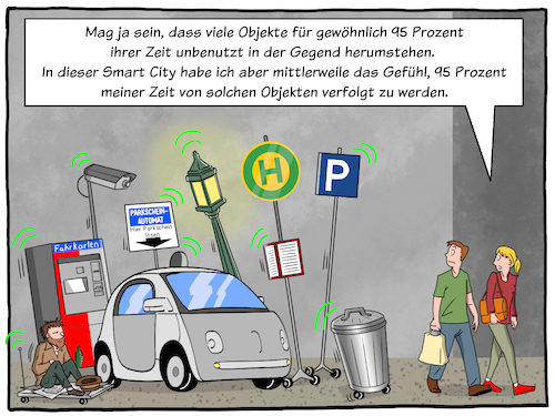 Cartoon: Smart City (medium) by CloudScience tagged smart,city,digitalisierung,digital,technologie,vernetzung,stadt,zukunft,digitale,transformation,sensoren,iot,internet,der,dinge,of,things,satire,sarkasmus,selbstfahrendes,auto,intelligenter,muelleimer,intelligenz,ki,ai,daten,big,data,cloud,verfolgung,spionage,auslastung,tech,future,disruption,mobilitaet,verkehr,moeller,illustration,smart,city,digitalisierung,digital,technologie,vernetzung,stadt,zukunft,digitale,transformation,sensoren,iot,internet,der,dinge,of,things,satire,sarkasmus,selbstfahrendes,auto,intelligenter,muelleimer,intelligenz,ki,ai,daten,big,data,cloud,verfolgung,spionage,auslastung,tech,future,disruption,mobilitaet,verkehr,moeller,illustration