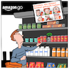 Cartoon: Amazon Go (small) by CloudScience tagged amazon,go,handel,digitalisierung,überwachung,shop,online,retail,filiale,einkaufen,digital,scannen,innovation,disruption,zukunft,trend,supermarkt,technologie,tech,1984,kunden,marketing,big,data,analyse,gesichtserkennung,it