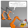 Cartoon: Edge Computing (small) by CloudScience tagged edge,computing,cloud,fog,iot,internet,der,dinge,of,things,sensoren,router,roboter,industrie40,industrie,daten,analticys,fuer,dummies,for,digital,digitalisierung,tech,technik,technologie,it,robotik,produktion,fabrik,smart,factory,flaschenhals,latenz,ausfallzeit,big,data,machine,learning,business,intelligence,zukunft,trend,innovation,digitale,transformation,kuka