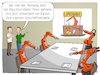 Cartoon: Maschinendaten (small) by CloudScience tagged industrie40,smart,factory,intelligente,fabrik,industrie,roboter,roboterarm,robotik,automatisierung,kuka,daten,maschinendaten,big,data,mining,business,intelligence,bi,ki,kuenstliche,intelligenz,sensoren,vernetzung,iot,internet,der,dinge,digitalisierung,digital,cartoon,illustration,tech,technik,technologie,computer,it,wirtschaft,produktion,meeting,maschinelles,lernen,maschine,learning