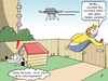 Cartoon: Postbote und die Drohne (small) by CloudScience tagged drohne,postbote,logistk,versand