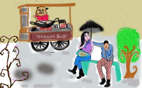 Cartoon: street food (medium) by anupama tagged street,food