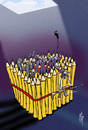 Cartoon: Pencil Revenge (small) by stip tagged terrorism,charlie,hebdo,paris,is,al,qaeda