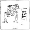 Cartoon: Nude Body Scan (small) by joxol tagged nude,body,scanner,security,check,airport,naked,business
