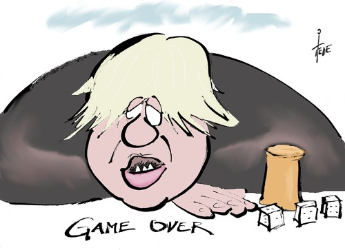Cartoon: Brexit-Johnson (medium) by tiede tagged tiede,over,game,uk,cameron,eu,johnson,boris,brexit,cartoon,karikatur,brexit,boris,johnson,eu,cameron,uk,tiede,cartoon,karikatur