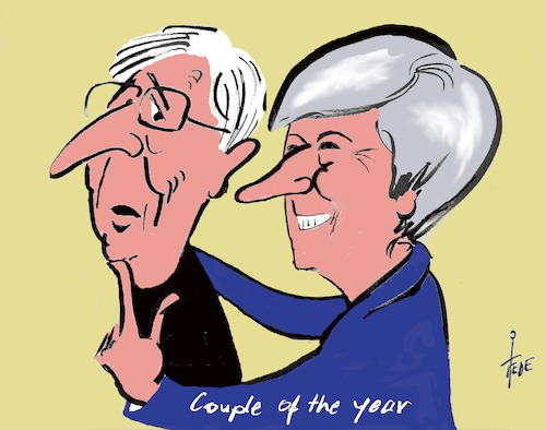 Cartoon: Couple of the year (medium) by tiede tagged theresa,may,juncker,tiedemann,cartoon,karikatur,theresa,may,juncker,tiedemann,cartoon,karikatur