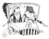 Cartoon: Bonnie and Clyde -  Eurofighter (small) by tiede tagged euro,staatsanleihen,clyde,and,bonnie,portugal,spanien,griechenland,irlandkrise,sarkozy,merkel
