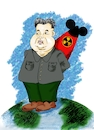 Cartoon: Kim Jong-un (small) by Guto Camargo tagged coreia,korea,kin,missel,caricature