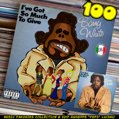 Cartoon: Barry White (medium) by Peps tagged barry,white,got,so,much,to,give