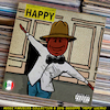 Cartoon: Pharrell Williams - Happy (small) by Peps tagged pharrell,williams,happy
