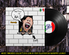Cartoon: Pink Floyd - The wall (small) by Peps tagged pink,floyd,music,wall,opera,theatre,scream,brick