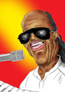Cartoon: Stevie Wonder (small) by Thomas Vetter tagged stevie,wonder