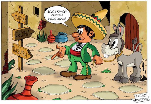 Cartoon: Drug cartels (medium) by Ludus tagged drugs,mexico,mexican