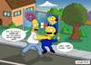 Cartoon: Homer Simpsons vs Berlusconi (small) by Ludus tagged homer,simpsons,berlusconi