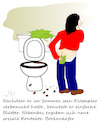 Cartoon: Quarantäne (small) by Jochen N tagged klo,klopapier,toilette,toilettenpapier,po,arsch,abputzen,sommer,soziale,kontakte,borkenkäfer,corona,virus,covid,19,ansteckung,pandemie,gesund,krank,infekt
