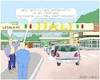 Cartoon: Arrivederci Elite (small) by Barthold tagged italy,lega,nord,m5s,replacement,experienced,experts,populist,agenda,central,bank,unesco,stock,exchange,regulation,authority,agency,consob,border,crossing,queue,cars,douane,custom,office,banana,republic,legaland,luigi,di,maio,matteo,salvini