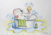 Cartoon: elefantenbad (small) by katzen-gretelein tagged bad,elefant