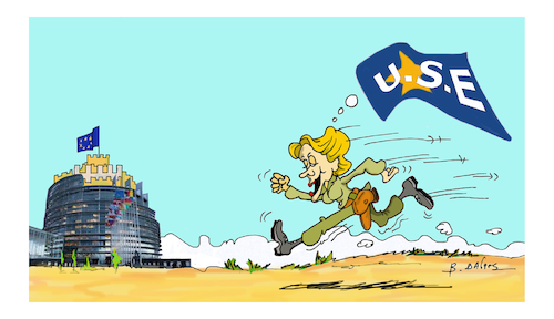 Cartoon: Ursula Gertrud von der Leyen (medium) by vasilis dagres tagged eropean,union