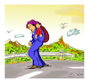 Cartoon: Moria - The road to life. (small) by vasilis dagres tagged refugees,greece,european,union,usa,russia,syria,france,turkey,foundationalism