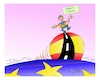 Cartoon: next day IN KATALONIA (small) by vasilis dagres tagged katalonia,democracy