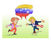 Cartoon: Trump Merkel (small) by vasilis dagres tagged venezuela,oil,merkel,macron,maduro