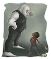 Cartoon: David and Goliath (small) by Alagooon tagged racism,humanity