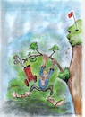 Cartoon: Never give up (small) by higi tagged golf,philosophy,lifestyle,power,cartoon,drawing