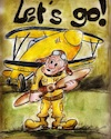 Cartoon: pilot (small) by higi tagged pilot,cartoon,comic,startup,drawing,aviation,flight,airplane