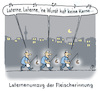 Cartoon: Laternenumzug (small) by Lo Graf von Blickensdorf tagged nacht,laterne,sankt,martin,lambertus,fleischer,metzger,innung,karikatur,cartoon,lo,laternenumzug,umzug,kerze,marsch,demonstration,alter,brauch,wurst,kerne,mond,stadt,land,religion,vegan,vegetarisch,fleischesser,fleischermeister,innungsmeister,nahrung,ernährung,fleisch,handwerkskammer