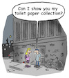Cartoon: toilet paper (small) by Lo Graf von Blickensdorf tagged date,toilet,paper,home,girlfriend,boyfriend,collection,night,speed,dating,love,covid19,pandemie,purchase,corona,sex