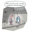 Cartoon: Verwechselung (small) by Lo Graf von Blickensdorf tagged roboter,star,wars,skywalker,imperium,staubsauger,r2d2,darth,vader,george,lucas,karikatur,lo,cartoon,oma,straße,outdoor,begegnung,gehweg,bürgersteig,science,fiction