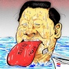 Cartoon: Chinese red tongue (small) by takeshioekaki tagged hague,convention