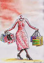 Cartoon: shopping (small) by vadim siminoga tagged shopping,women,beauty,victim,finance,consumers