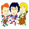 Cartoon: Green Day cartoon (small) by Ardy tagged green,day,cartoon,greenday