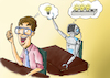 Cartoon: Computer Thinking (small) by Orhan ATES tagged computer,thinking,human,technology,idea,improve