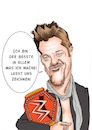 Cartoon: Chris Jericho (small) by Thomas Vetter tagged karikatur