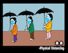 Cartoon: Umbrella for Physical Distancing (small) by APPARAO ANUPOJU tagged umbrella,physical,distancing