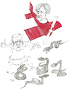 Cartoon: Draufsicht (small) by herranderl tagged seehofer,horst,angela,merkel,cdu