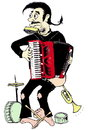 Cartoon: Accordionist (small) by Barcarole tagged accordionist