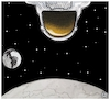 Cartoon: Apollo 11 (small) by Christi tagged apollo11,moon,armstrong