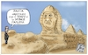 Cartoon: LA PIRAMIDE DEL TERRORE. (small) by Christi tagged patrick,egypt,alsisi,sphinx,egitto,tortura