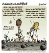 Cartoon: Adam Eve and God 41 (small) by mortimer tagged mortimer mortimeriadas cartoon comic biblical adam eve god snake paradise bible