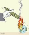 Cartoon: climate change (small) by Sajith Bandara tagged amazon,rainforest,is,burning