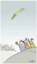 Cartoon: Sky of jerusalem this christmas. (small) by Sajith Bandara tagged war