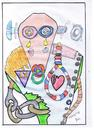 Cartoon: sechzig sixty (small) by skätch-up tagged 60,sechzig,sixty,old,wasted,almost,gone,woundet,hurt